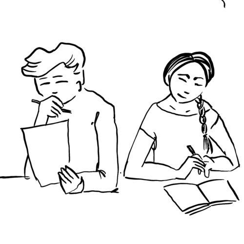 Kaksi kirjoittajaa