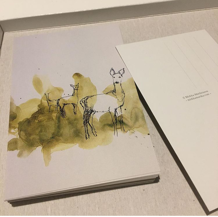Metsäkauris-postikortteja